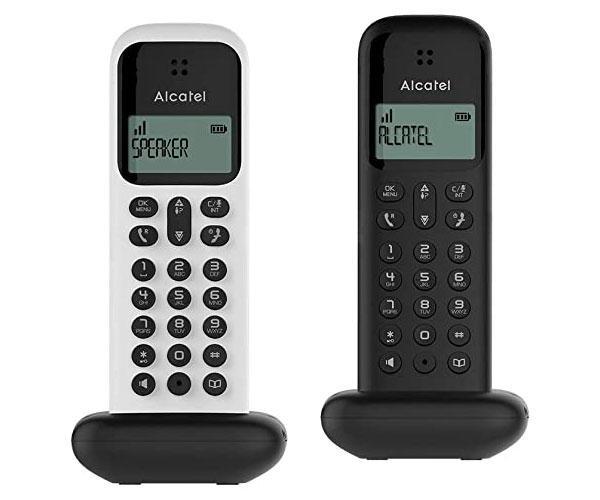 Telefono inalámbrico Dect Alcatel Duo D285 Negro + Blanco