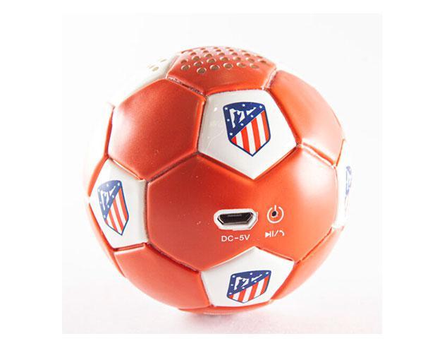 Altavoz Bluetooth Balón Atletico de Madrid rojo blanco con licencia
