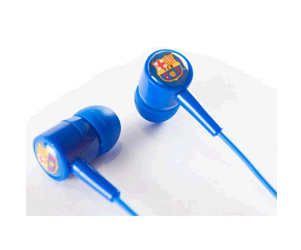 Auricular con cable botón azul F.C Barcelona con licencia