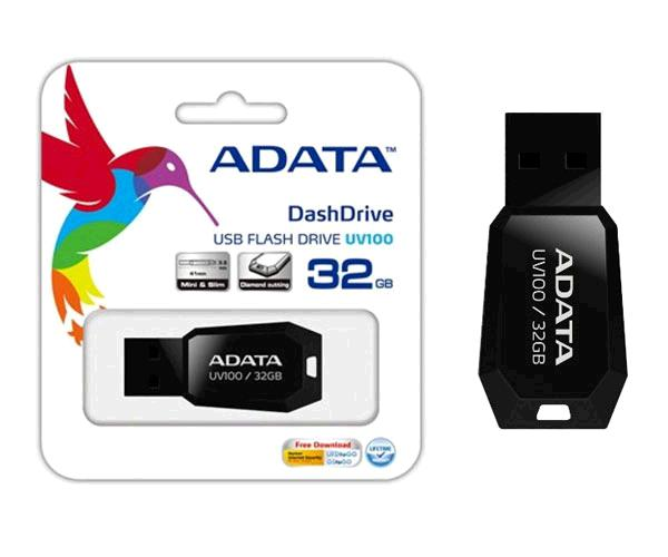 Pendrive Mini Adata Uv100 32Gb USB 2.0 Negro