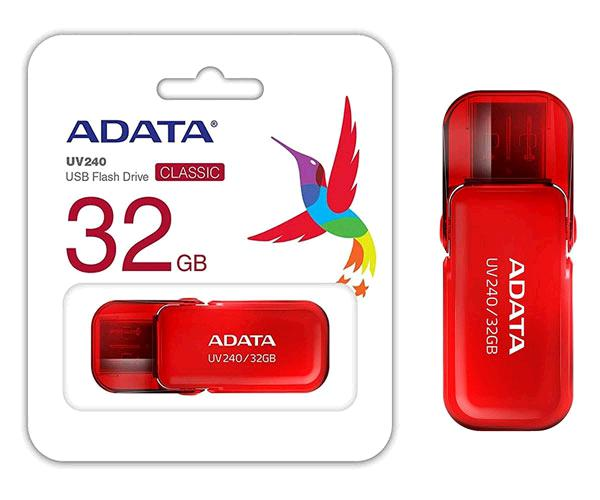 Pendrive Adata Uv240 32Gb USB 2.0 Rojo