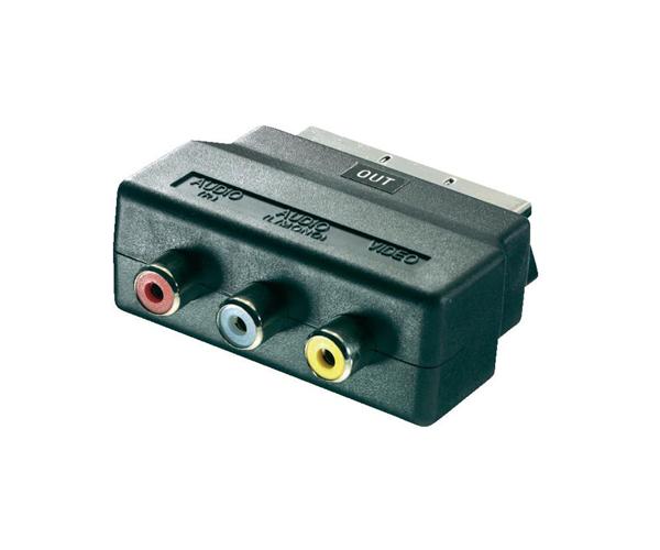 Adaptador video euroconector - scart a rca M-H
