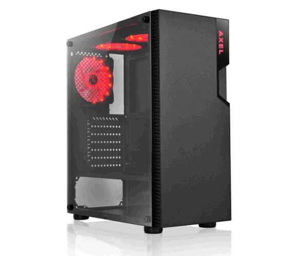 Caja gaming LED Rojo Axel - USB 3.0 - ATX - Cristal templado - L-Link