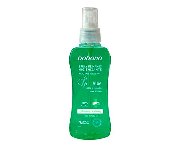 Spray Desinfectante hidroalcoholico babaria 70% alcohol 100 ml con aloe y jojoba