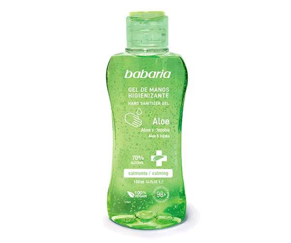 Gel Desinfectante hidroalcoholico babaria 70% alcohol 100 ml con aloe y jojoba
