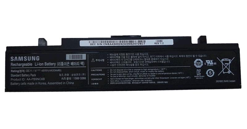 BATERIA PORT. SAMSUNG Q318 - R468 - RC710 - R580 - R510 - R530