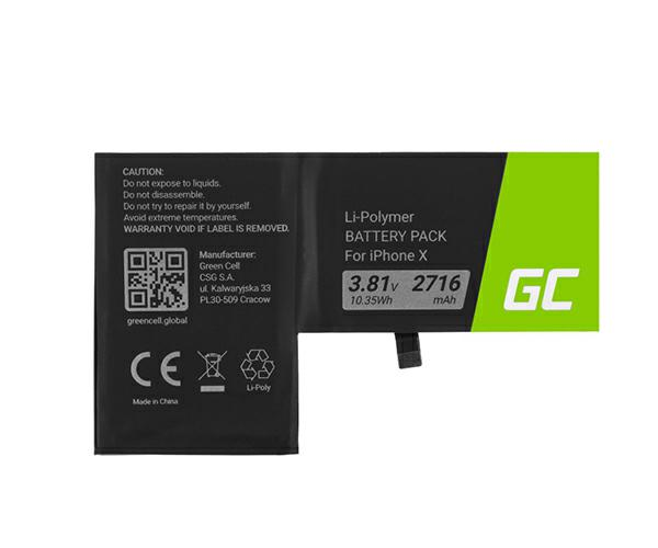 Bateria movil para iPhone X Greencell 3.8v 2716 mah