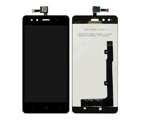 Pantalla movil táctil + LCD bq aquaris x5 negro