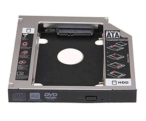 Adaptador aluminio HDD-SSD portatil de 12.7mm  Nanocable