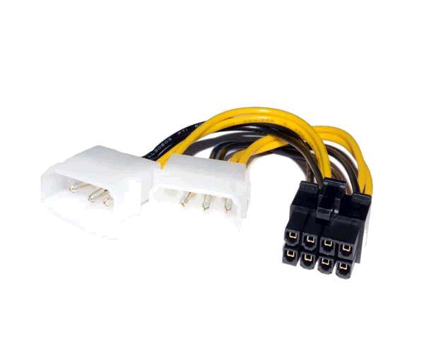 Cable molex gráfica 2x5.25 a 8 pin pci-e - cc-psu-81