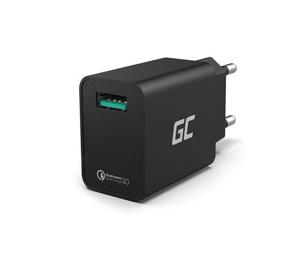 Cargador de red stool GREENCELL QC USB 3.0 18W