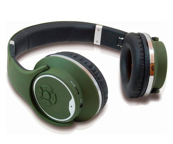Auriculares Conceptronic Bluetooth - Mp3 Microsd - Funcion altavoz - Fm - Manos libres - Verde oscuro