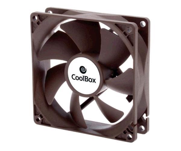 Ventilador Coolbox 80mm - 1600Rpm - 3 Pines - (8x8cm)
