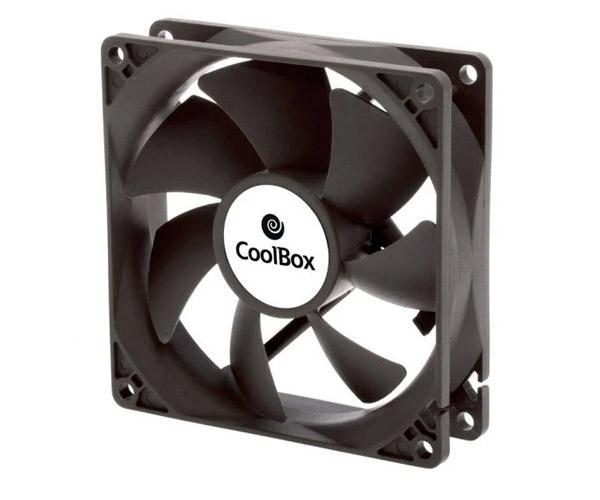 Ventilador Coolbox 90mm - 1600Rpm - 4 Pines - (9x9cm)