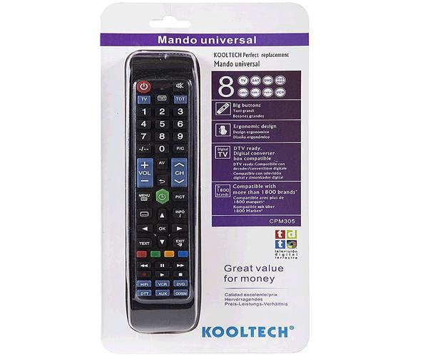 MANDO UNIVERSAL KOOLTECH CPM305 TV - TDT