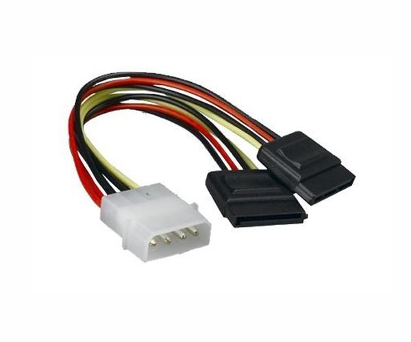 Cable bifurcador alimentador sata en Y - 15cm - cc-sata-psy