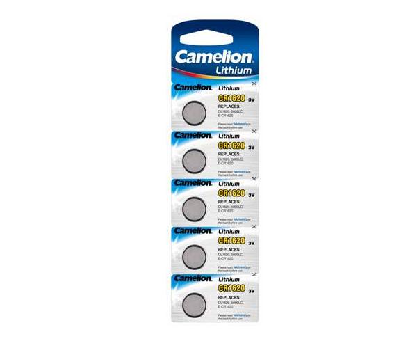 Pila boton litio Cr1620 3v camelion pack 5 unidades