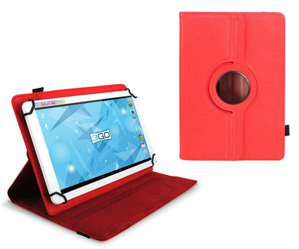 FUNDA TABLET 10.1 PULGADAS AJUSTABLE PANORAMICA ROJA 3GO