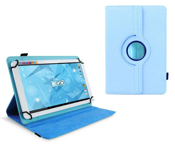 FUNDA TABLET 10.1 PULGADAS AJUSTABLE PANORAMICA CELESTE 3GO
