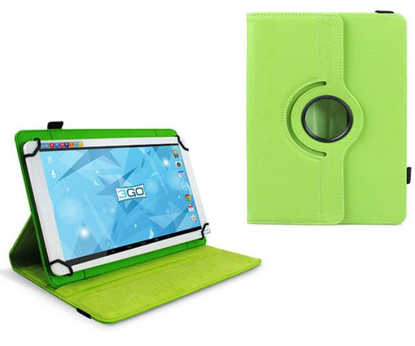 FUNDA TABLET 10.1 PULGADAS AJUSTABLE PANORAMICA VERDE 3GO