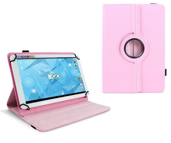Funda tablet 10.1 pulgadas ajustable panoramica rosa 3go