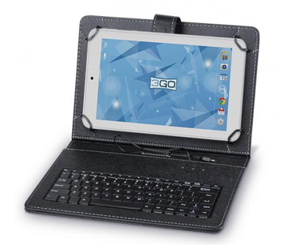 Funda Tablet universal 10 pulgadas con teclado USB negra 3go