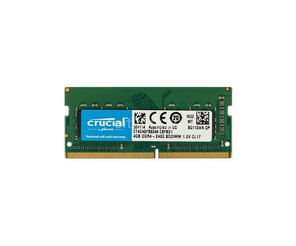 Memoria Ram Crucial SO-DIMM 4Gb DDR4 - 2400 mhz - cl17 - Ct4g4sfS824a