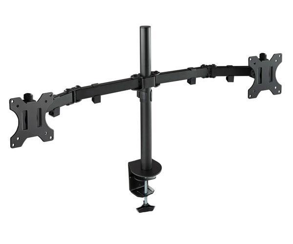 Soporte de mesa para 2 Monitores-Tv 13-32 Pulgadas - Giratorio e inclinable - 2 Brazos - Db1232tn-b