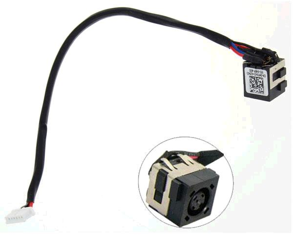 Dc-Jack cable Dell latitude e6430 - e6320 - e6420 - 29cm aprox.