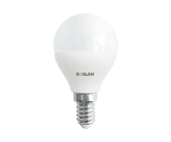Bombilla LED Roblan e14 esferica - A+ - 5w - luz dia - 6500k - 400lm - 175-250v
