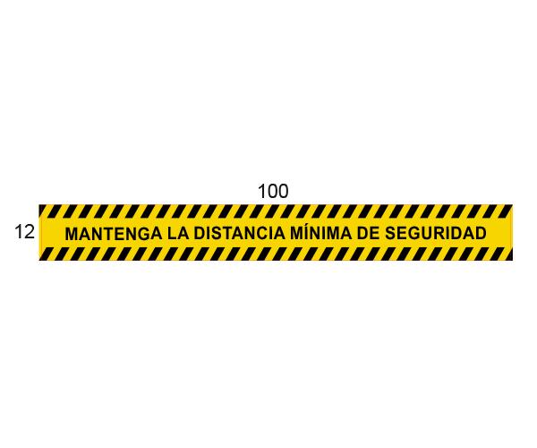 Adhesivo Distancia mínima de Seguridad - Amarillo
