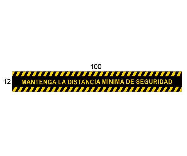 Adhesivo Distancia mínima de Seguridad -  Negro