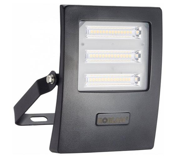 PROYECTOR LED SMD ROBLAN NEGRO - 30W - 6500K - LUZ DIA - 2850LM - 190-250V - IP65