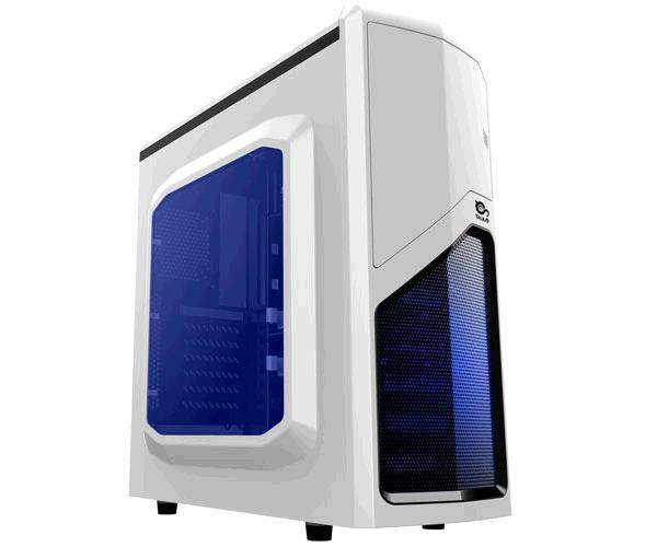 Caja ATX gaming Talius drakko blanca - lateral transparente - USB 3.0