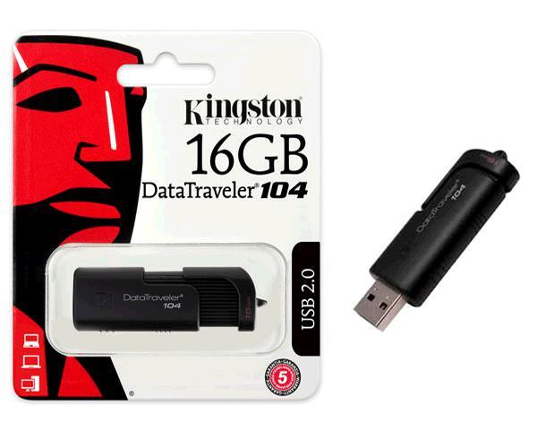 Pendrive kingston dt104 16gb usb 2.0 negro