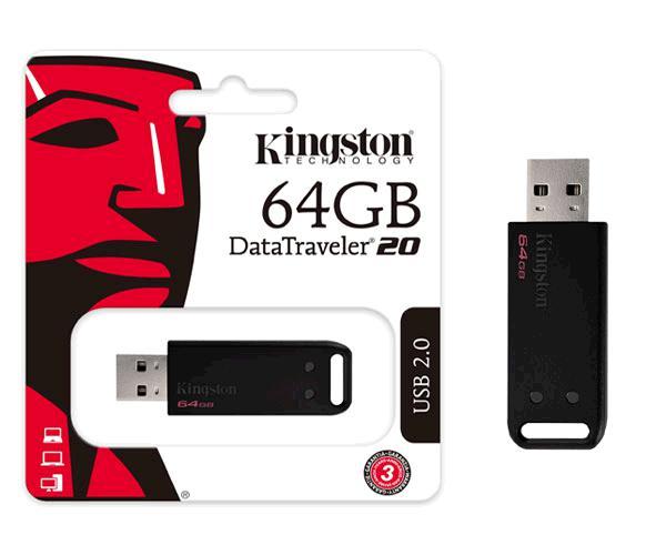 Pendrive Kingston Dt20 64Gb USB 2.0