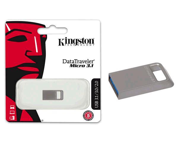 PENDRIVE KINGSTON MICRO FIT DTMC3 32GB USB 3.1 METALICO PLATA