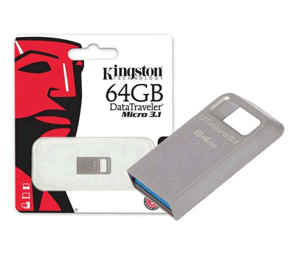 PENDRIVE KINGSTON MICRO FIT DTMC3 64GB USB 3.1 METALICO PLATA