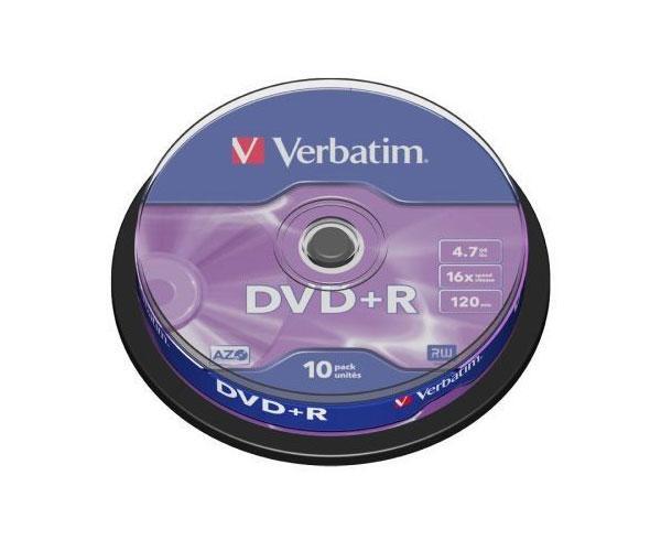 Dvd-r verbatim 16x tarrina 10 uds