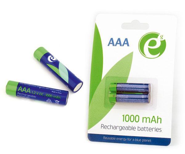 Pilas recargables Energenie AAA 1000 mah Ni-mh (2 pcs)  - Eg-ba-aaa10-01