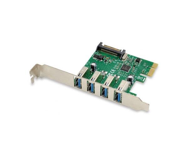 Tarjeta controladora Conceptronic Pci Express USB 3.0 - 4 Puertos - Incluye soporte LP - Emrick U34