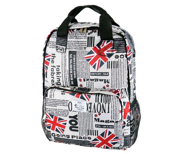 Mochila E-Vitta Style England 15.4 a 16 pulgadas - asas + correa hombro - 2 compartimentos - 2 bolsillos