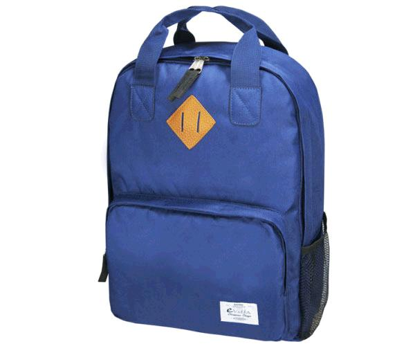 Mochila E-Vitta Style Backpack 15.4 a 16 pulgadas Azul - asas + correa hombro - 2 compartimentos - 2 bolsillos