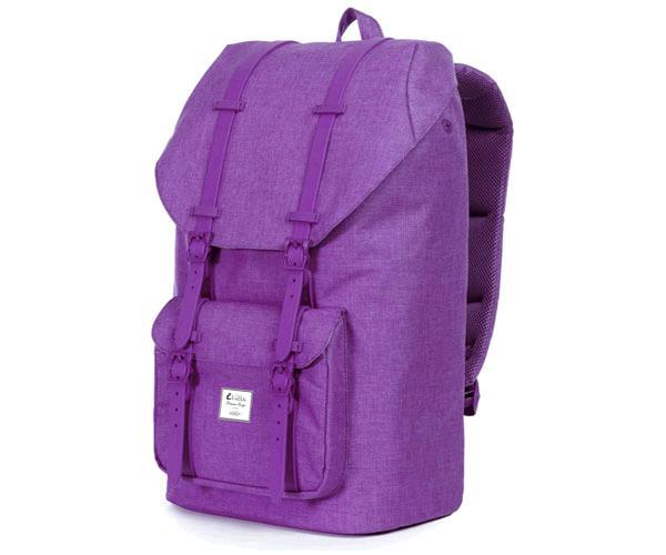 Mochila E-Vitta Tourister Purple 15.4 a 16 pulgadas - panel trasero acolchado - cierre superior con cincha