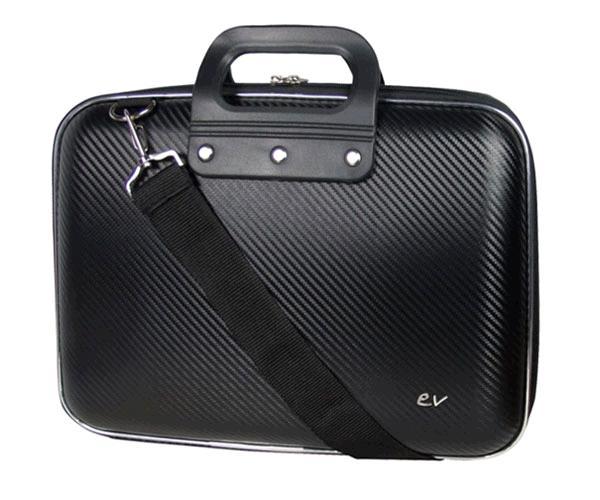 Maletin Rigido portatil Eva Pu Fibra de carbono Negro e-vitta 13.3