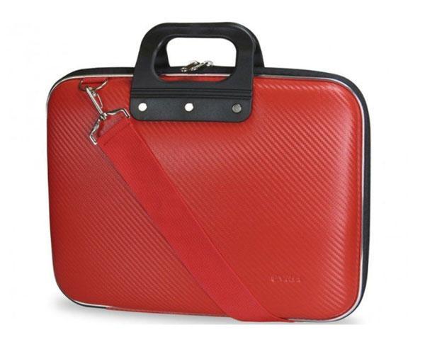 Maletin Rigido portatil Eva Pu Fibra de carbono - Rojo - e-vitta - 13.3
