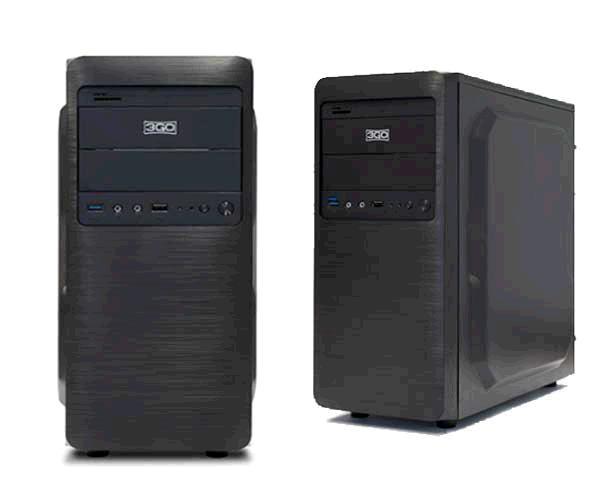 CAJA ATX EXCELLENT 3GO GRIS OSCURO ALUM. CEPILLADO SIN FUENTE - USB 3.0