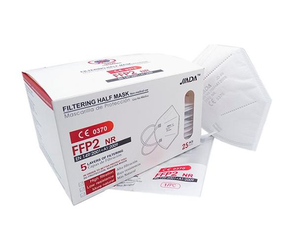 Mascarillas FFP2 blancas caja de 25 unidades emblistadas individualmente con certificado impreso