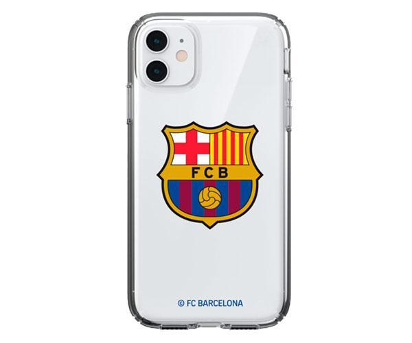 Carcasa - funda trasera TPU Transparente Iphone 12 PRO MAX FC Barcelona con licencia