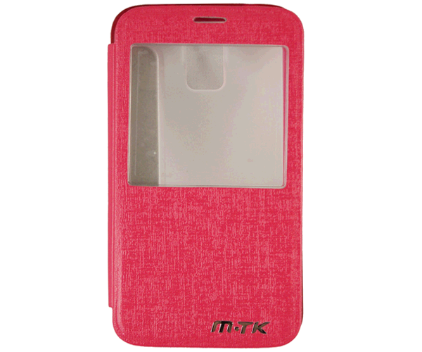 Funda para smartphone Samsung Galaxy s5 flip ventana rosa